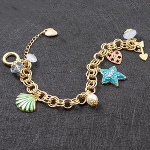 Colorful Betsey Johnson Starfish Shell Bracelet